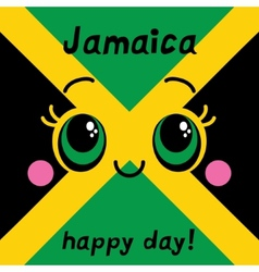 Jamaica happy day Greeting card vector