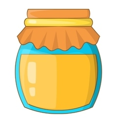 Jar of honey icon cartoon style vector