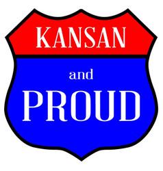 Kansan and proud vector