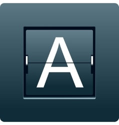Letter A from mechanical scoreboard vector