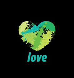 logo heart splash vector image