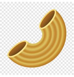 maccheroni pasta mockup realistic style vector image