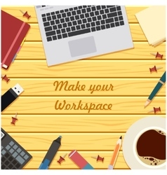 Make your workspace banner6 vector image