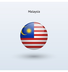 Malaysia round flag vector