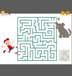 maze leisure activity vector image