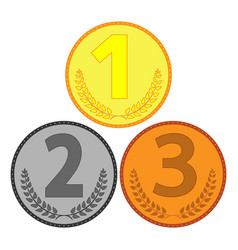 medal set sign 404 vector image