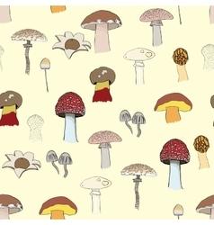 Mushrooms pattern vector