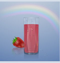natural berry juice ads refreshing berries with vector image