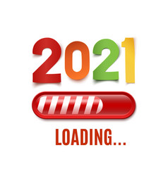 new year 2021 loading bar isolated on white vector image