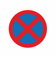 no parking vehicle sign vector image