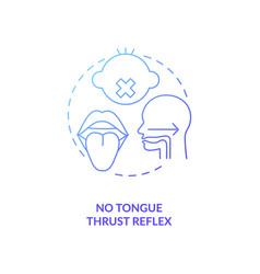 No tongue thrust reflex concept icon vector
