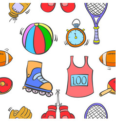 Pattern sport equipment of art vector
