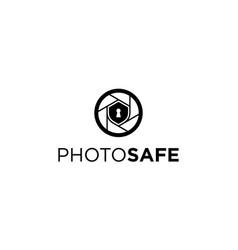 photo safe logo design concept vector image