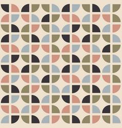 retro seamless pattern mid-century modern style vector image