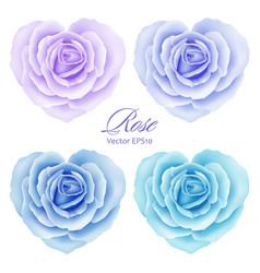 Roses flowers in heart shape vector