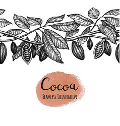seamless of cocoa vector image