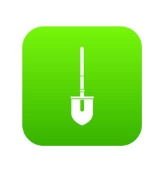 shovel icon digital green vector image