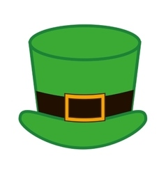 Silhouette colorful with leprechaun Hat vector