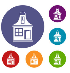 small house icons set vector image