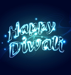 stylish happy diwali text vector image
