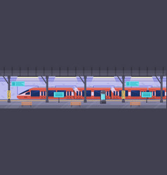 subway station metro station platform empty vector image