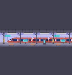subway station metro station platform empty vector image