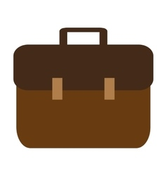suitcase design bag icon Flat and isolated vector image