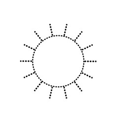 Sun icon monochrome sticker silhouette vector