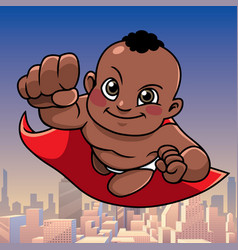 super baby black city background vector image
