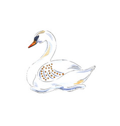 Swan swimming for 12 days christmas charms vector