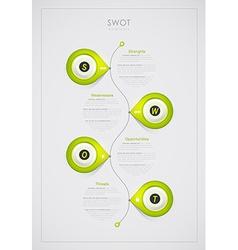 SWOT - Strengths Weaknesses Opportunities Threats vector
