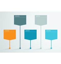 Timeline 3d Infographic 2 vector