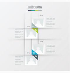 Timeline design green blue gray color vector