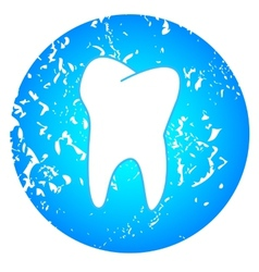 Tooth on a blue background vector image