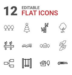 Tree icons vector