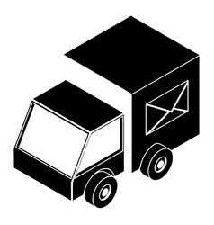 truck delivery icon simple style vector image