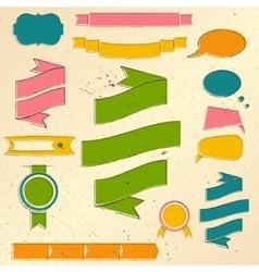 Vintage website design elements set vector