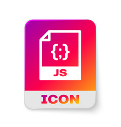 White js file document icon download js button vector