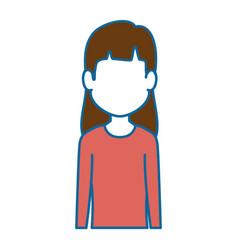 woman profile cartoon vector image