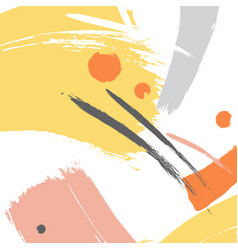 Yellow color brush orange stroke vector