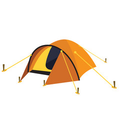yellow tent vector image
