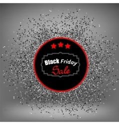 Black Friday Sticker and Confetti vector image vector image