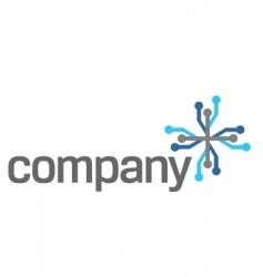 Connection technology logo vector