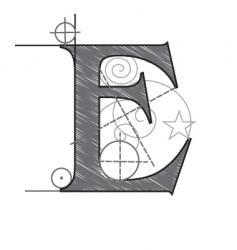 e vector image vector image