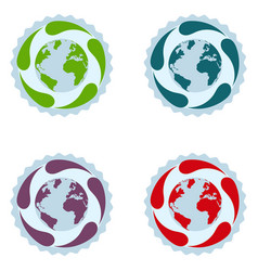 earth pollution stages vector image