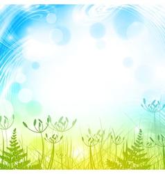Spring or Summer Meadow vector image vector image