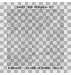 Grunge and checkered seamless patterns vector image vector image