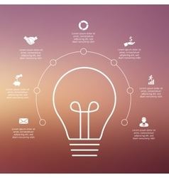 light bulb with circles for infographic vector image