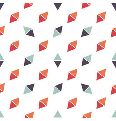 seamless pattern with red and blue triangles vector image vector image