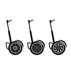 self-balancing electric scooters isolated on white vector image vector image